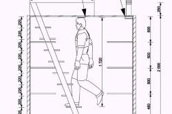 Схема размеров погреба