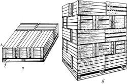 Схема укладки ящиков с цитрусовыми на поддон