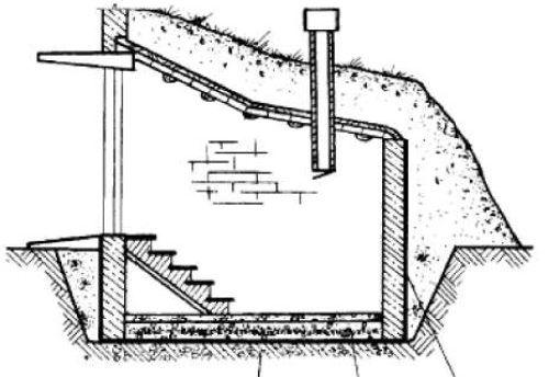 Схема строительства погреба своими силами.