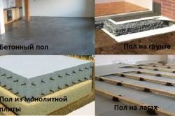 В подвале можно установить пол на лагах, бетонный, на монолитной плите и по грунту.