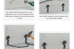 Монтаж проводки в бетонной стяжке