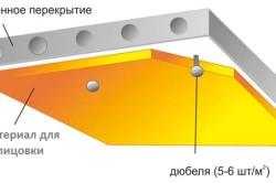 Схема бетонного потолка подвала.
