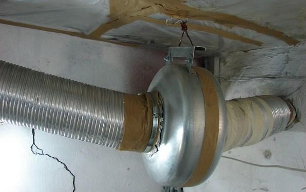 Вентиляция в подвале гаража