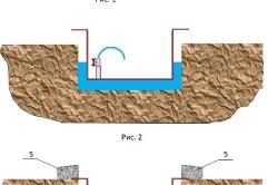 Устройство погреба в местах с высоким уровнем грунта.