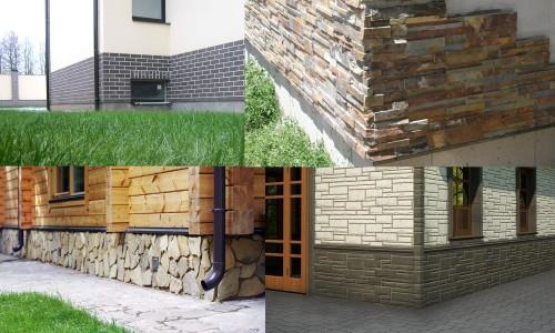 Материалы для отделки цоколя: клинкерная плитка, искусственный и натуральный камень, сайдинговые панели