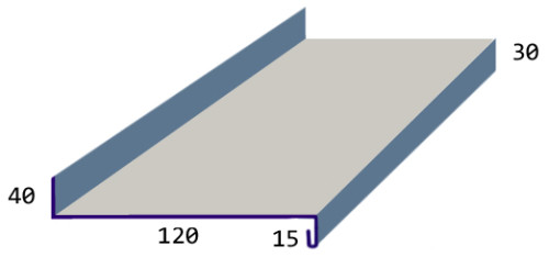 Схема размеров отлива