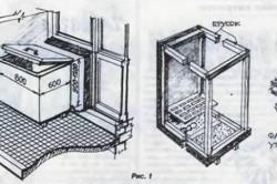 Схема сооружения погребка для хранения овощей