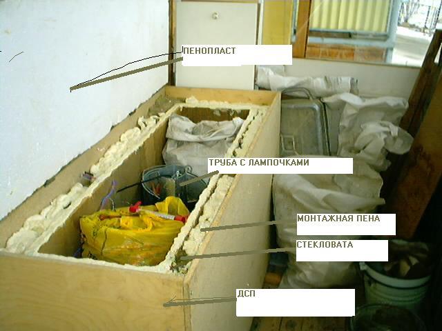 Ящики для хранения на балконе своими руками