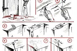 Этапы замены побелки на потолке