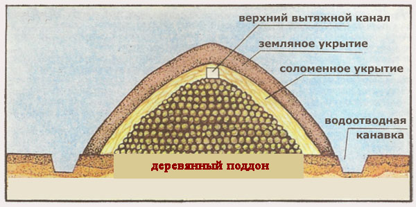 Схема хранилища для картофеля