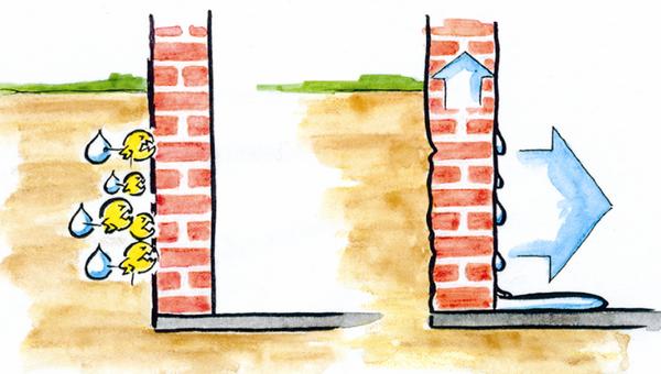 Как убрать сырость в частном доме