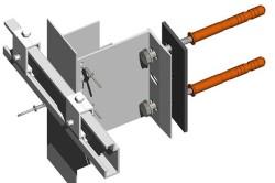 Скрытые точки крепления (штифтами) для плит толщиной 2-3 см
