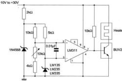 Схема подключения датчика LM335