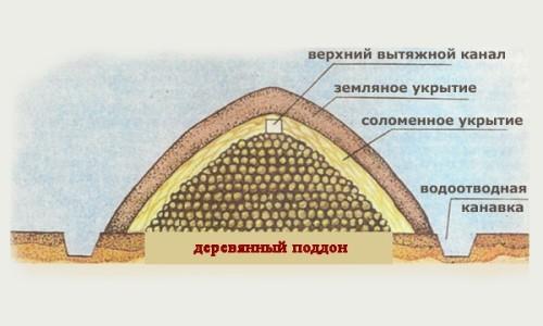 Пример простого укрытия для картофеля