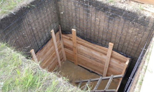 Каркас для бетонных стен погреба